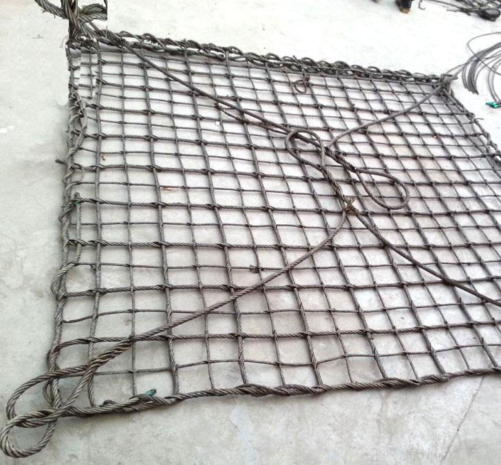 钢丝绳吊装网片钢缆吊货网钢丝绳吊网钢绳吊兜钢丝绳网