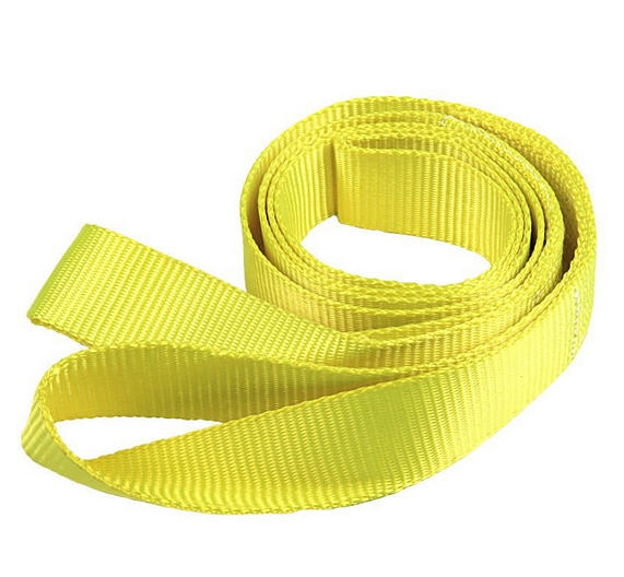 Single-use woven webbing sling