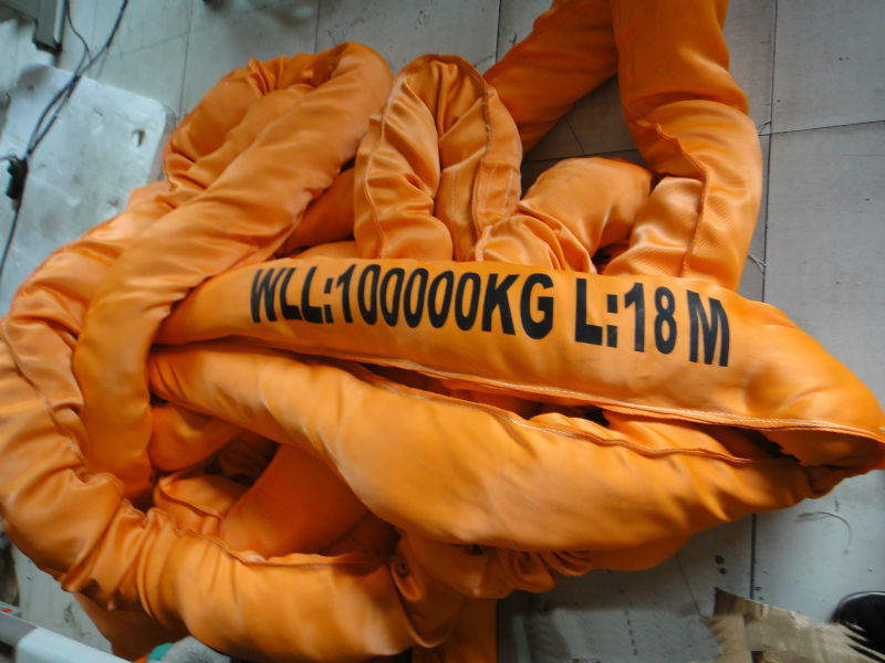 WLL 100T 100000kg Polyester Round Slings, Heavy Duty Endless Round Lifting Slings,Endless Round Webbing Sling